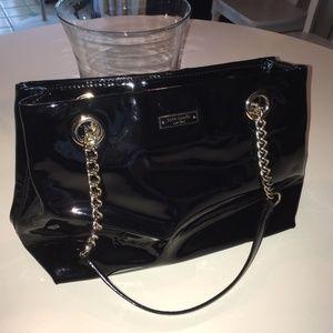 beautiful patent leather-style kate spade handbag